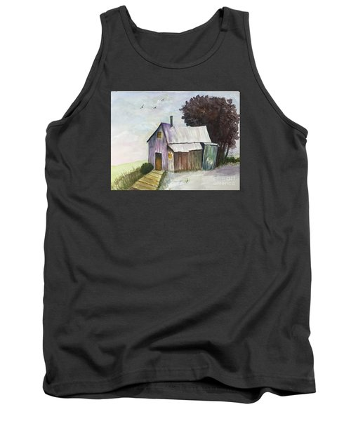 Colorful Weathered Barn Tank Top by Lucia Grilletto