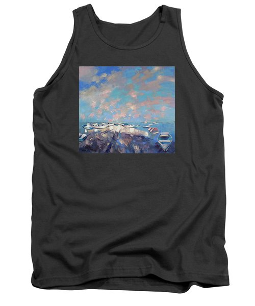 Tank Top featuring the painting Colors Flamingo by Anastasija Kraineva