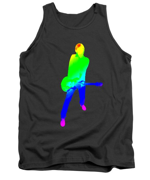 colourful guitar player. Music is my passion Tank Top