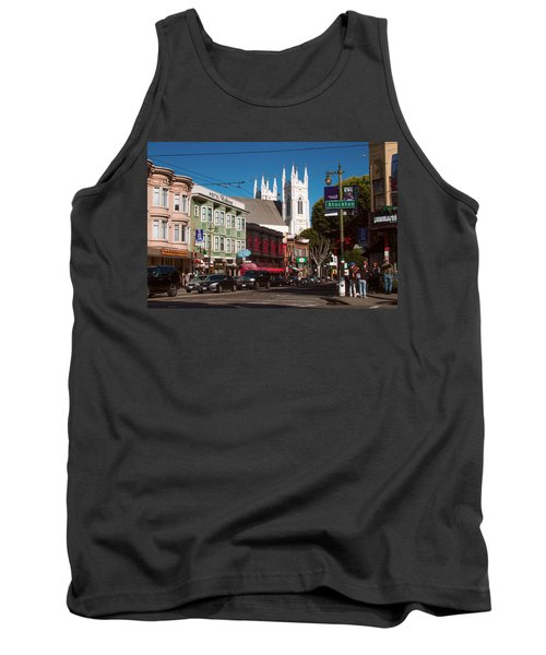 Columbus And Stockton In North Beach Tank Top