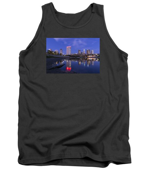 Columbus Evening On Water Tank Top by Alan Raasch