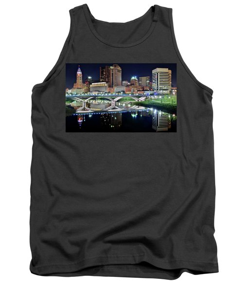 Columbus Over The Scioto Tank Top by Frozen in Time Fine Art Photography