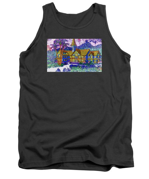 Tank Top featuring the painting Comic Inn by Mario Carini