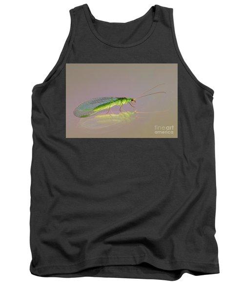 Common Green Lacewing - Chrysoperla Carnea Tank Top by Jivko Nakev