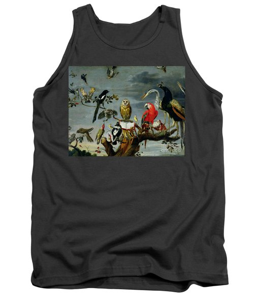 Concert Of Birds Tank Top by Frans Snijders