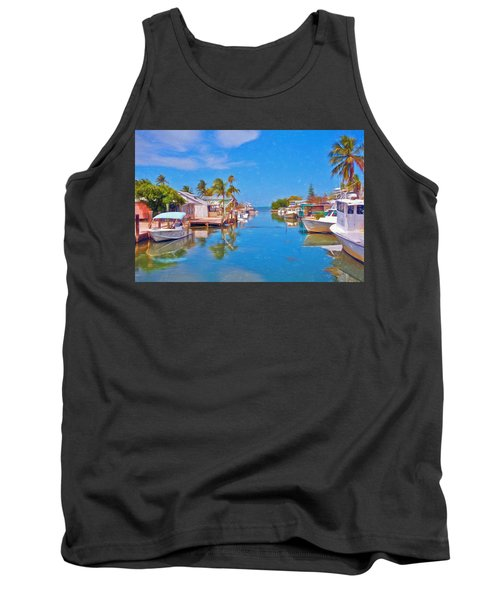 Conch Key Waterfront Living 3 Tank Top