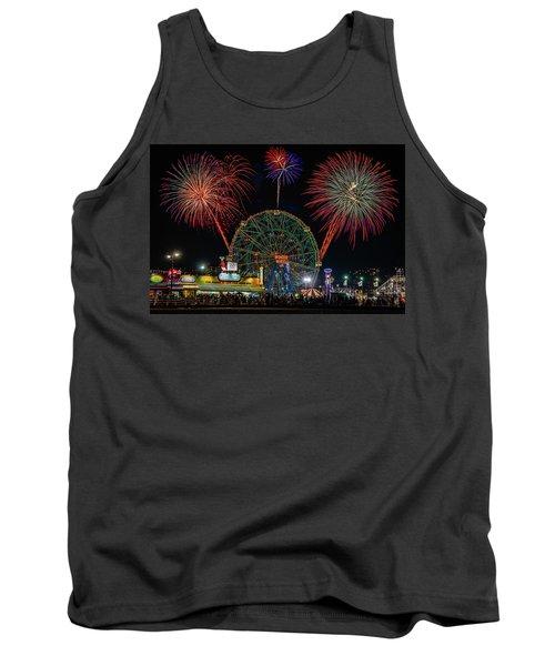 Coney Island At Night Fantasy Tank Top