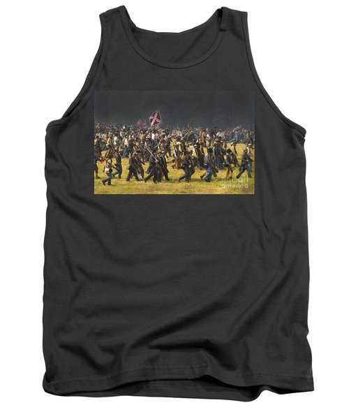 Confederate Charge At Gettysburg Tank Top