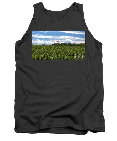 Confederate Flag In Tobacco Field Tank Top by Benanne Stiens
