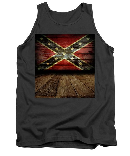 Confederate Flag On Wall Tank Top