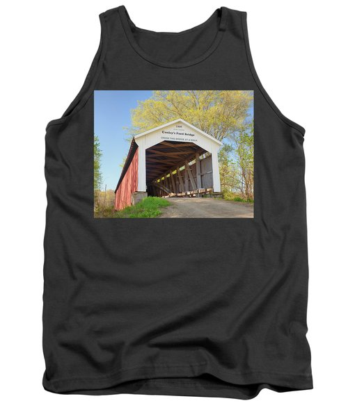 Conley's Ford Covered Bridge Tank Top by Harold Rau