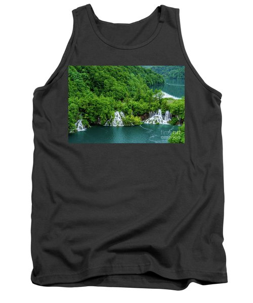 Connected By Waterfalls - Plitvice Lakes National Park, Croatia Tank Top
