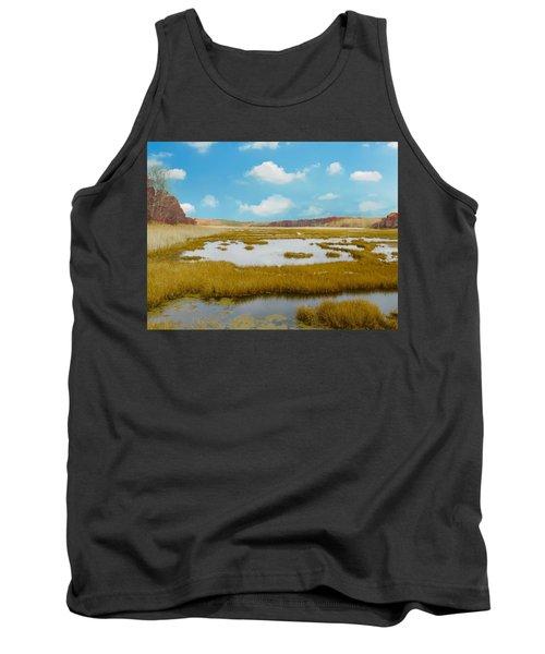 Connecticut Salt Water Marsh Tank Top