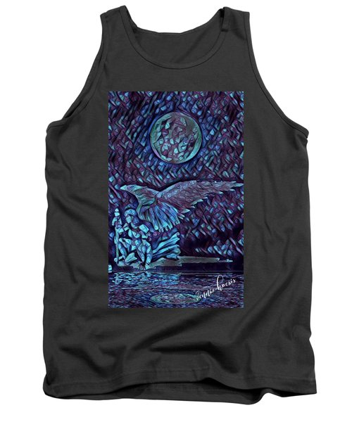 Contemplating The Next Move Tank Top by Vennie Kocsis
