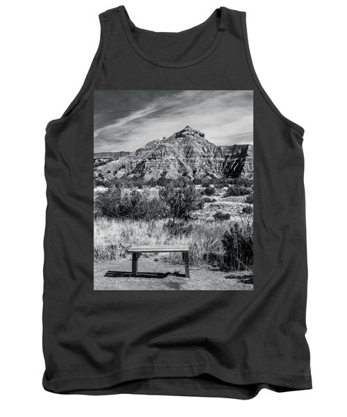 Contemplation Bench Bw Tank Top