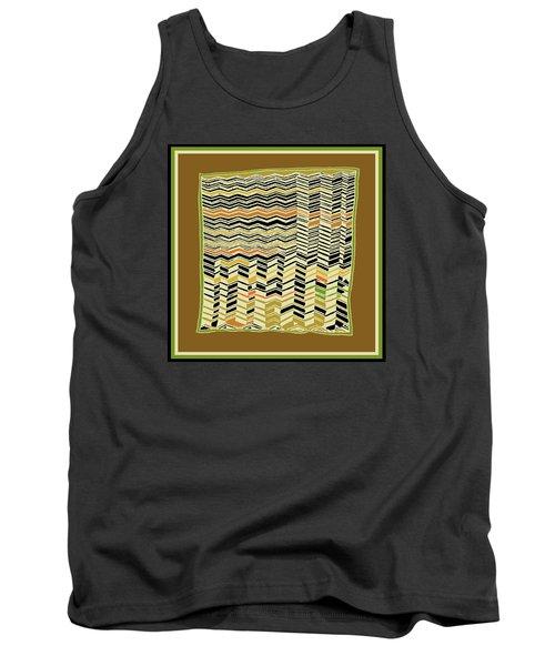 Tank Top featuring the digital art Contemporary Kuba Cloth by Vagabond Folk Art - Virginia Vivier