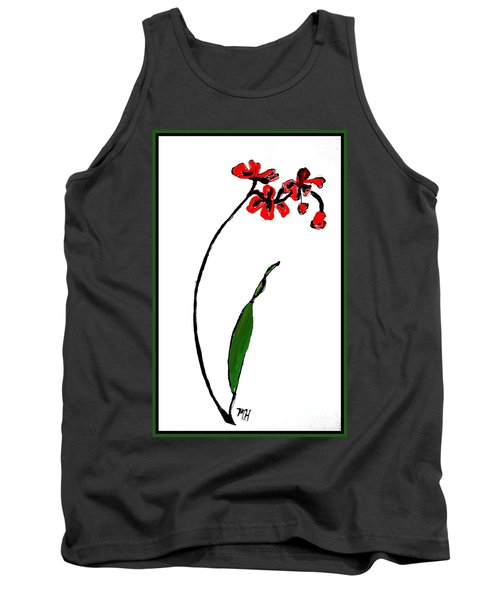 Tank Top featuring the painting Contemporary Orchids by Marsha Heiken
