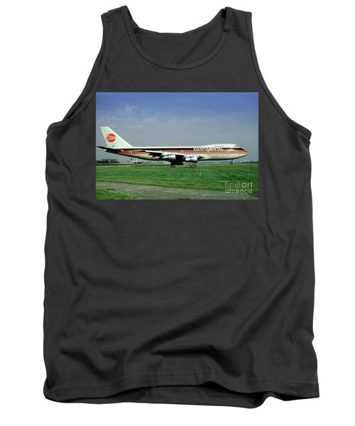 Continental Airlines Boeing 747-243b, N605pe, October 1988 Tank Top