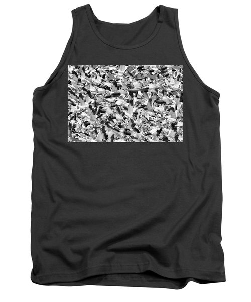 Tank Top featuring the photograph Controlled Chaos Bw by Everet Regal