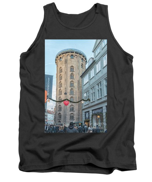 Tank Top featuring the photograph Copenhagen Round Tower Street View by Antony McAulay