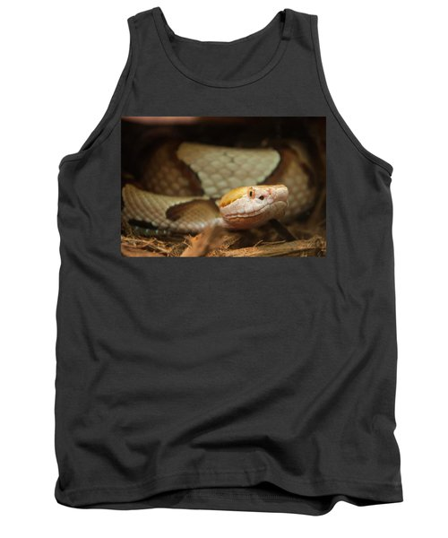 Tank Top featuring the digital art Copperhead by Chris Flees