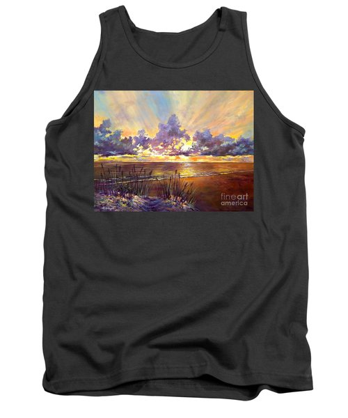 Coquina Beach Sunset Tank Top by Lou Ann Bagnall