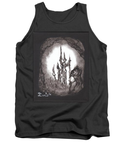 Tank Top featuring the painting Coral Castle by Christophe Ennis
