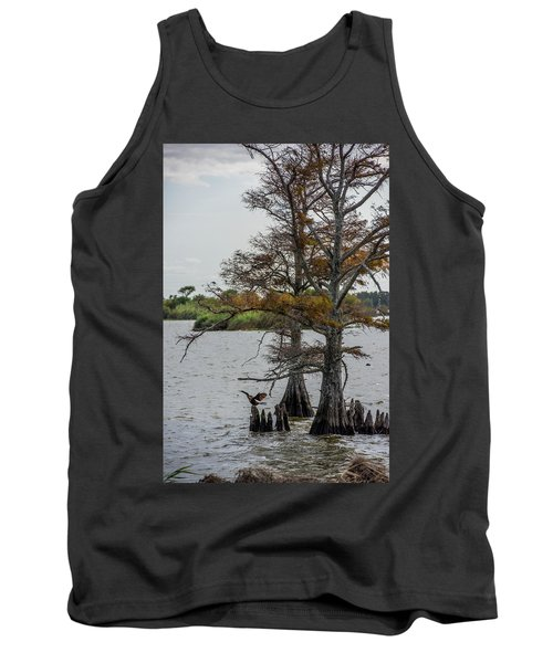 Tank Top featuring the photograph Cormorant by Paul Freidlund