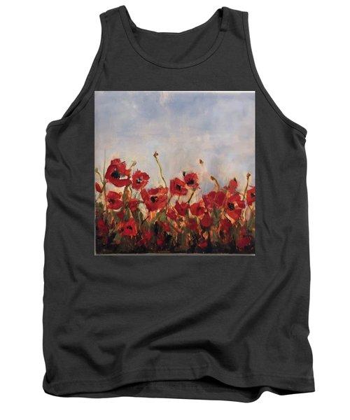Corn Poppies Tank Top