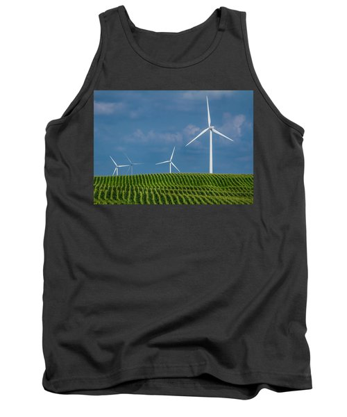 Corn Rows And Windmills Tank Top
