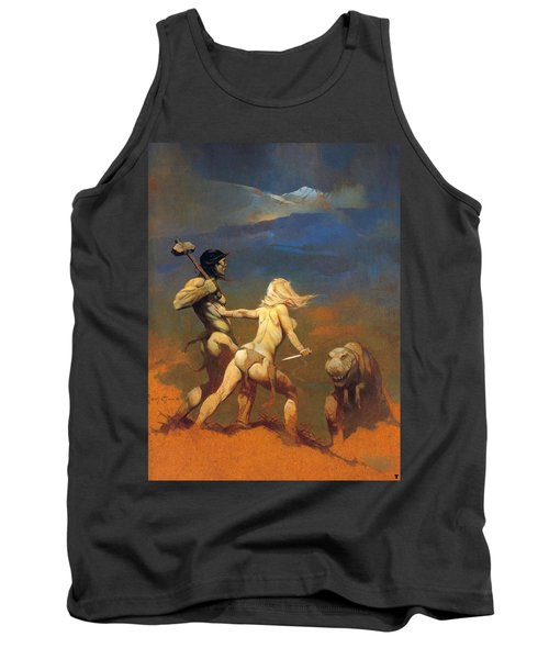 Tank Top featuring the painting Cornered by Frank Frazetta