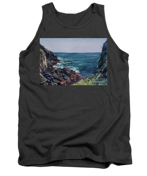 Cornish Clffs Tank Top by Genevieve Brown