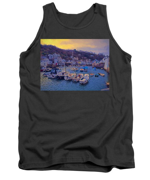 Cornish Fishing Village Tank Top by Paul Gulliver