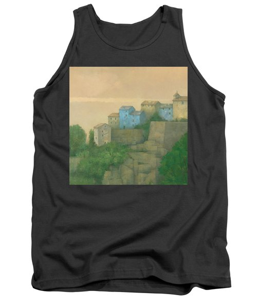 Corsican Hill Top Village Tank Top by Steve Mitchell