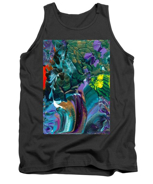 Cosmic Feathered Webbed Universe Tank Top