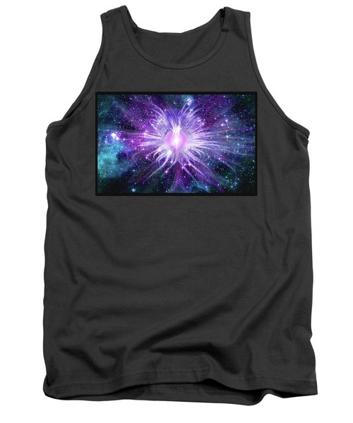 Tank Top featuring the mixed media Cosmic Heart Of The Universe Mosaic by Shawn Dall