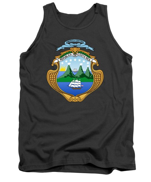 Tank Top featuring the drawing Costa Rica Coat Of Arms by Movie Poster Prints