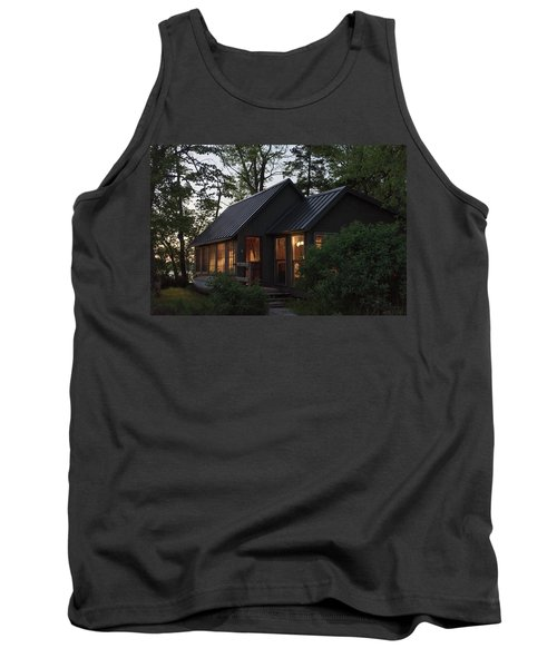 Tank Top featuring the photograph Cosy Cabin In The Woods by Gary Eason