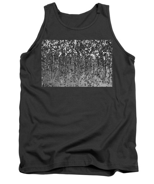 Cotton Abstract In Black And White Tank Top