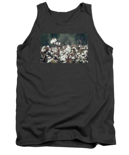 Cotton Field 5 Tank Top by Andrea Anderegg