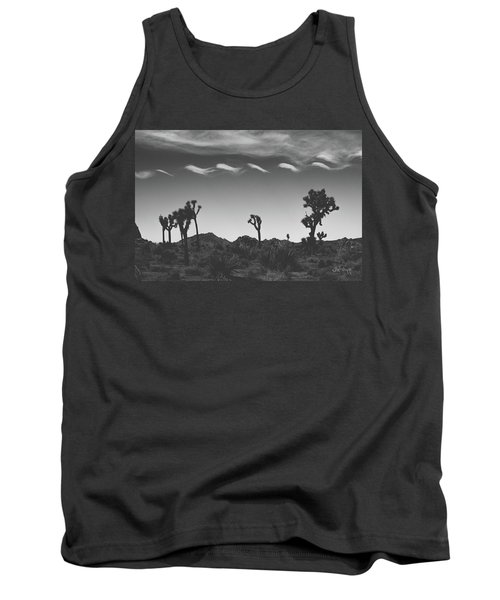 Tank Top featuring the photograph Cotton Sky On Joshua Trees by Joseph Westrupp