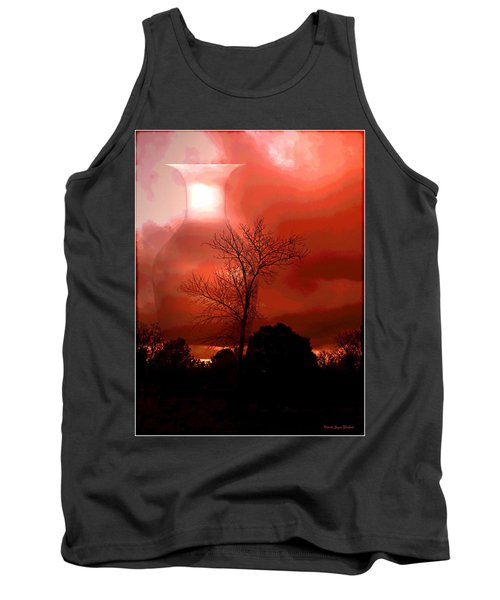 Tank Top featuring the photograph Cottonwood Crimson Sunset by Joyce Dickens