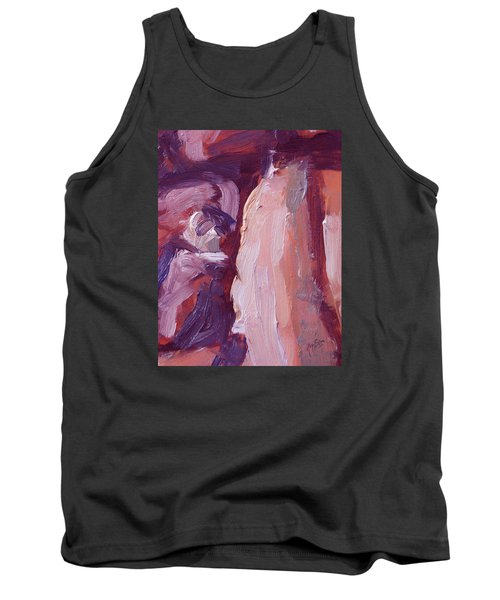 Tank Top featuring the painting Couch Abstract In Red And Purple by Nop Briex