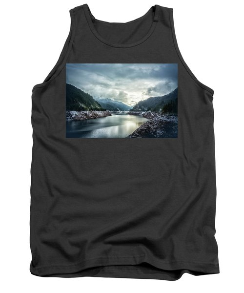 Cougar Reservoir On A Snowy Day Tank Top