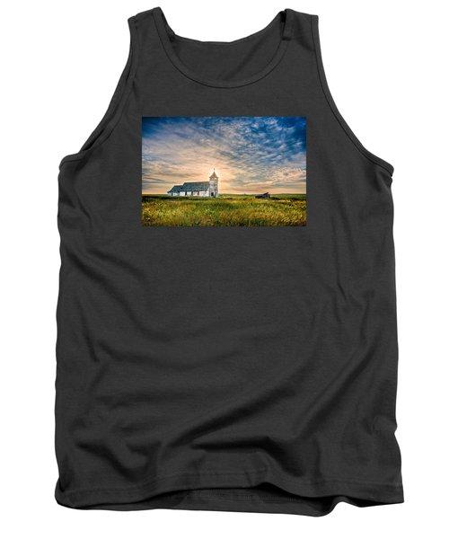 Country Church Sunrise Tank Top by Rikk Flohr