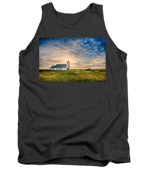Country Church Sunrise Tank Top