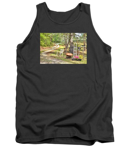 Country Driveway In Springtime Tank Top