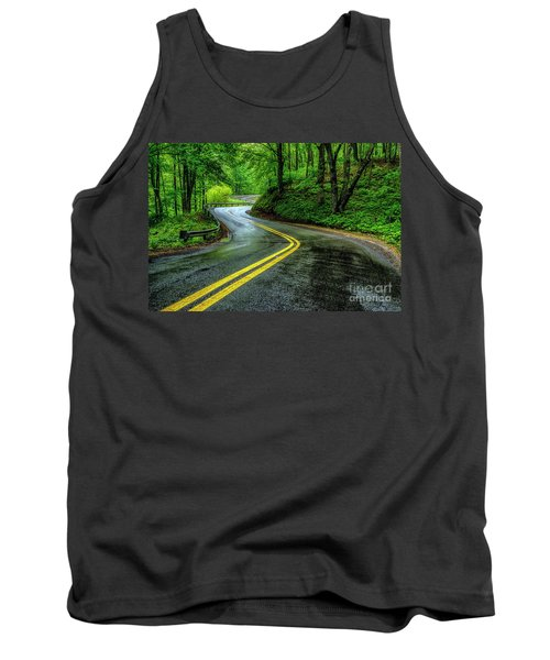 Country Road In Spring Rain Tank Top