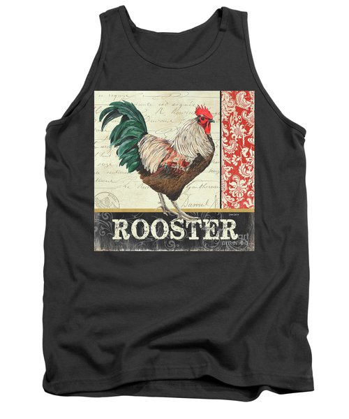 Tank Top featuring the painting Country Rooster 1 by Debbie DeWitt