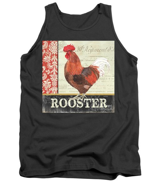 Tank Top featuring the painting Country Rooster 2 by Debbie DeWitt